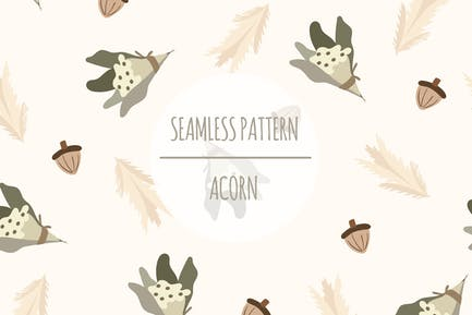 Acorn – Seamless Pattern