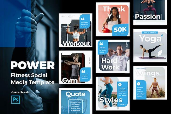 Thumbnail for Power - Fitness Instagram Post Vorlage