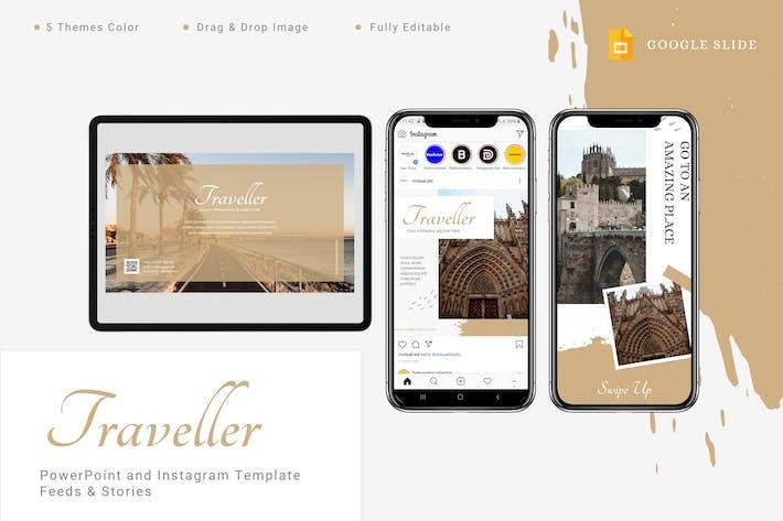 Thumbnail for Путешественник - Google Слайды и шаблон Instagram