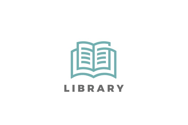 Thumbnail for Logo Book Library Education Linear style