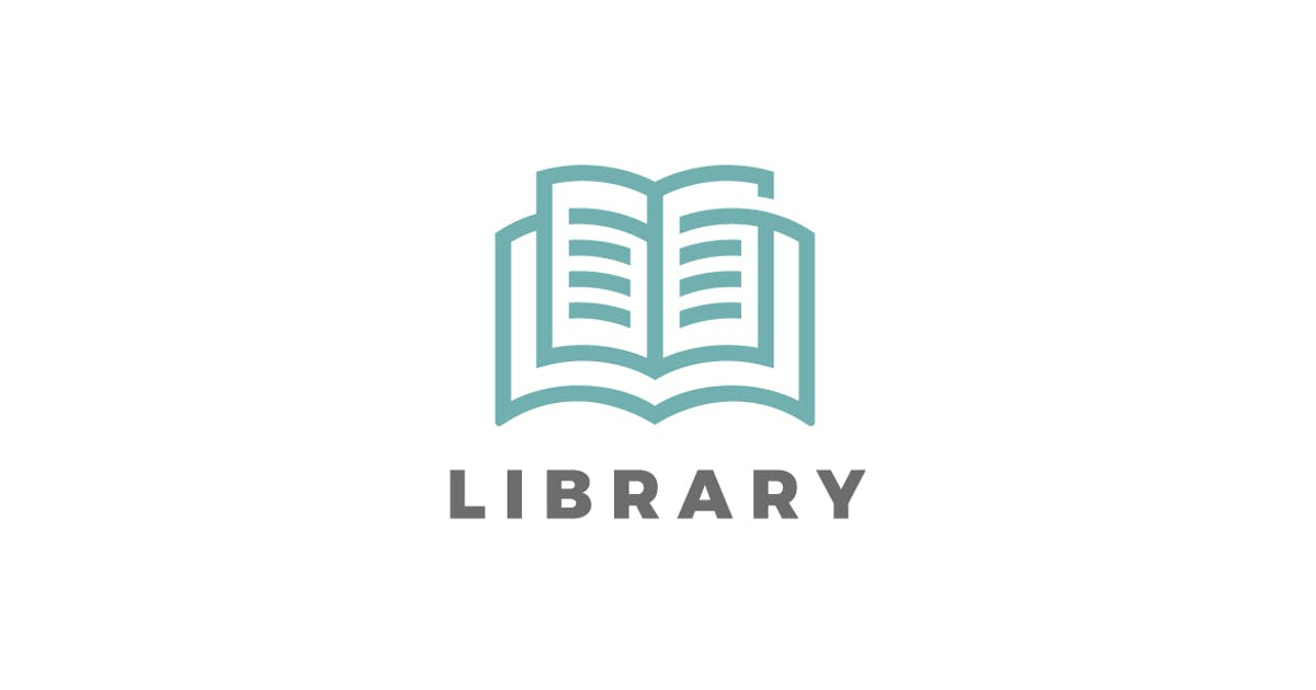 Download Logo Book Library Education Linear style by Sentavio