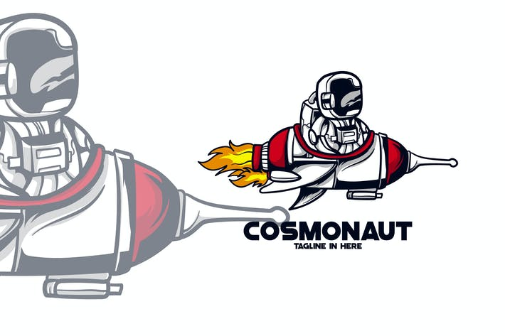 Thumbnail for COSMONAUT MASCOT LOGO TEMPLATE