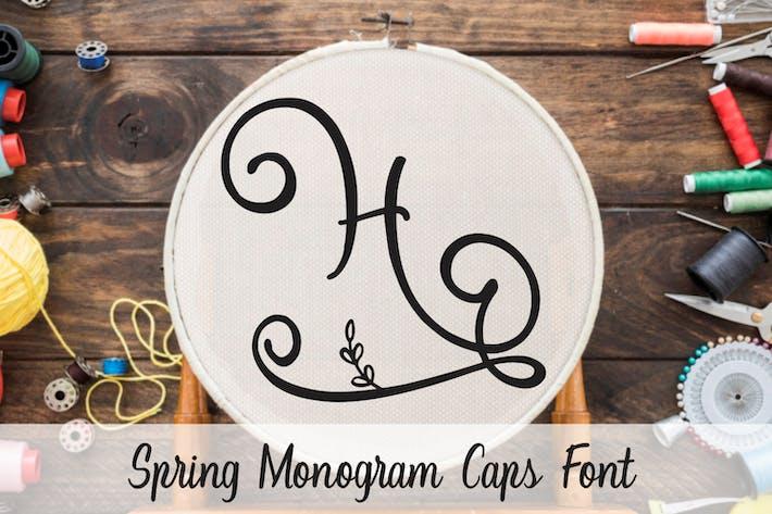 Thumbnail for Spring - Monogram Caps Font