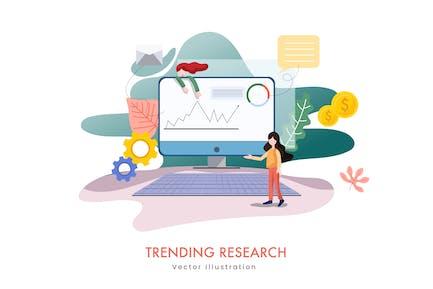 Trending Research Vector Illustration