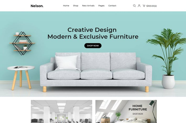 Thumbnail for Nelson - Furniture eCommerce Bootstrap 4 Template