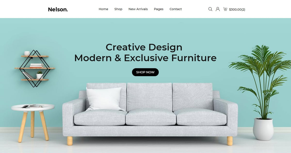 Download Nelson - Furniture eCommerce Bootstrap 4 Template by codecarnival