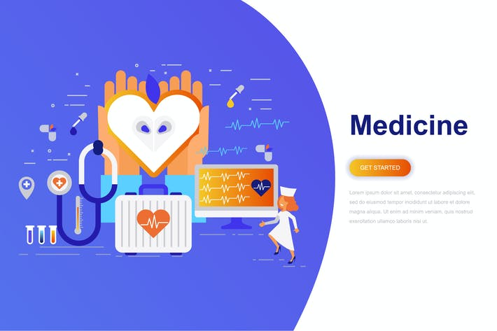 Thumbnail for Medicine and Healthcare Modern Flat Concept