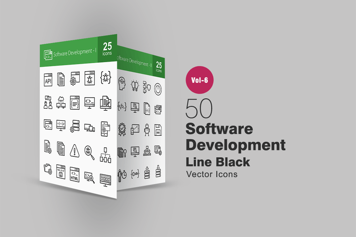 Thumbnail for 50 Software Development Line Icons