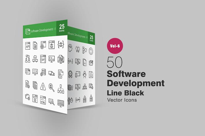 Thumbnail for 50 Иконки линии разработки программного обеспечения