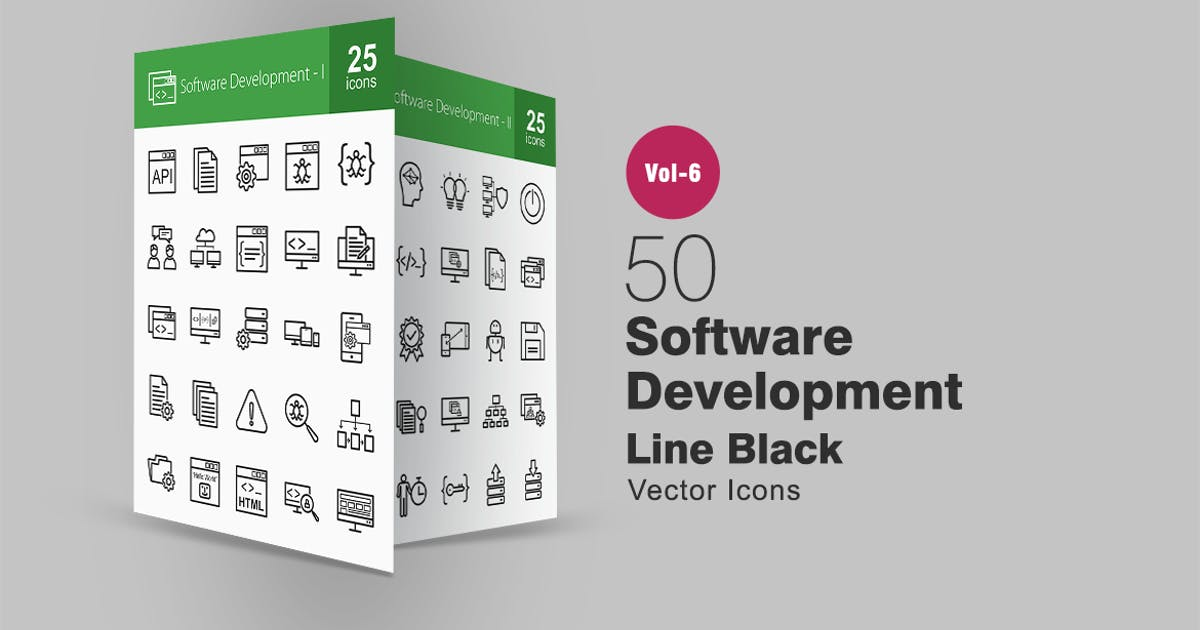 Download 50 Software Development Line Icons by IconBunny