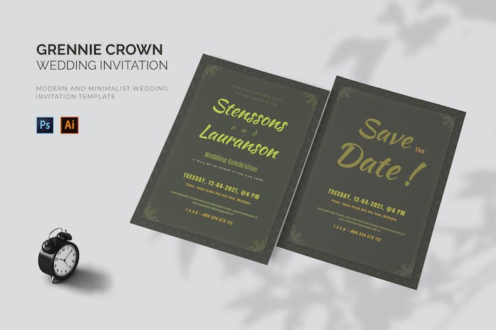 Grennie Crown - Wedding Invitation