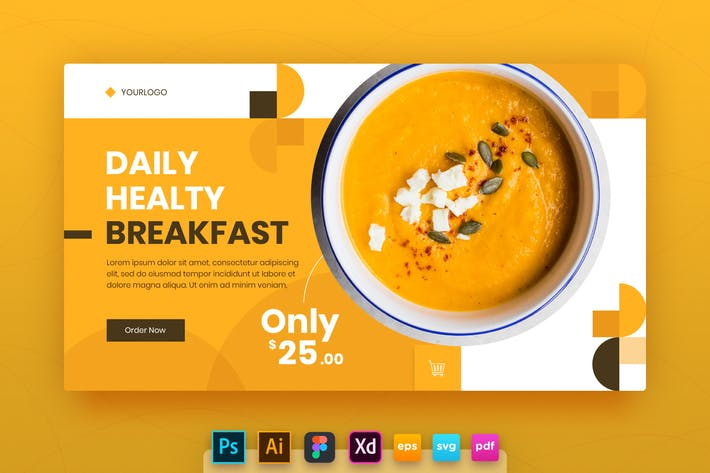 Thumbnail for Landing Page Vol.10 Healthy Breakfast