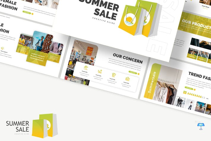 Thumbnail for Summer Sale - Store Keynote Template