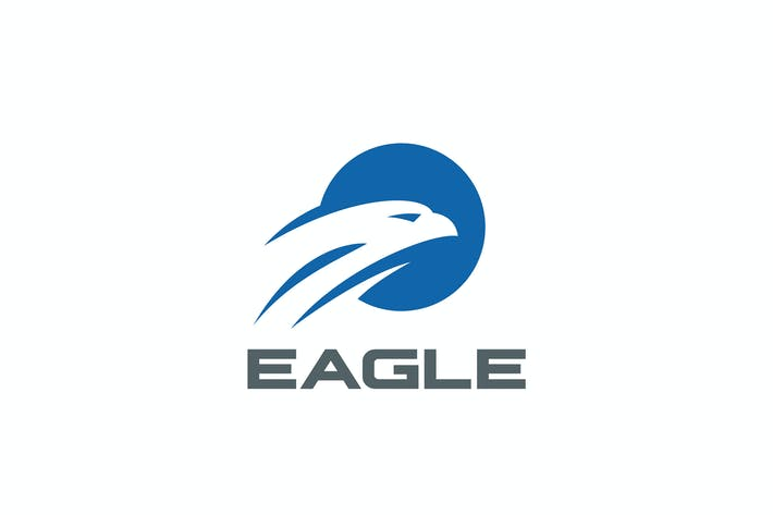 Thumbnail for Logo Eagle Falcon Circle Abstract