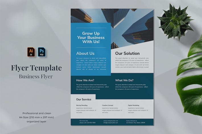 Thumbnail for Business Flyer Template 1.5