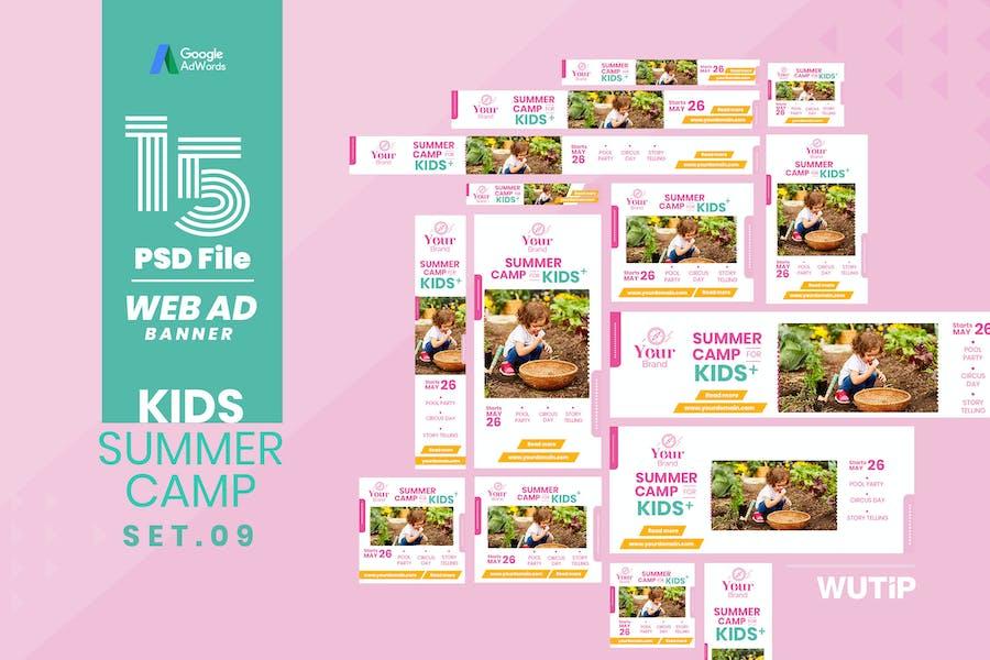 Web Ad Banner-Kids Summer Camp 09