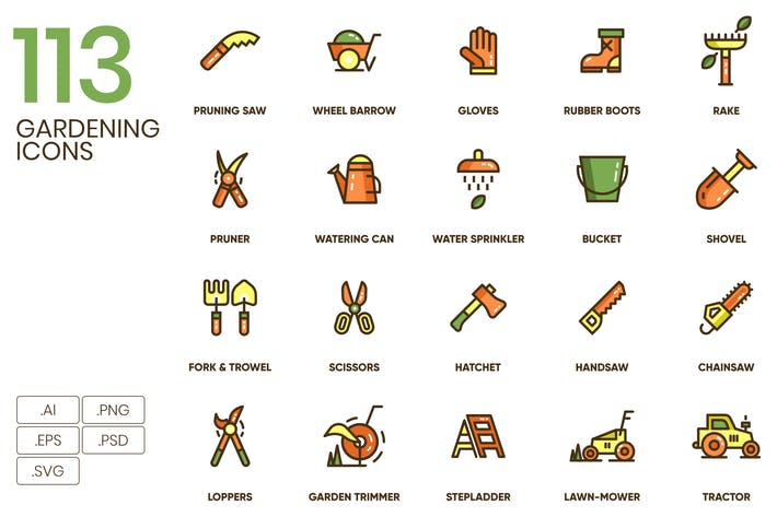 Thumbnail for 113 Gardening Icons