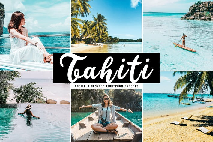 Cover Image For Tahiti Mobile & Desktop Lightroom Presets