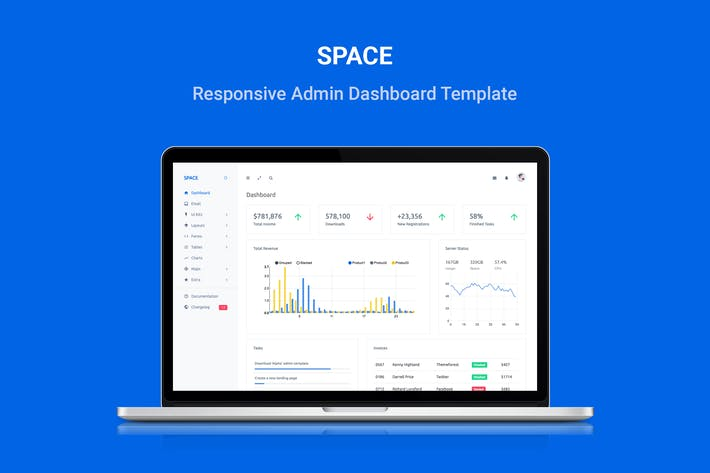 Thumbnail for Space - Responsive Admin Dashboard Template