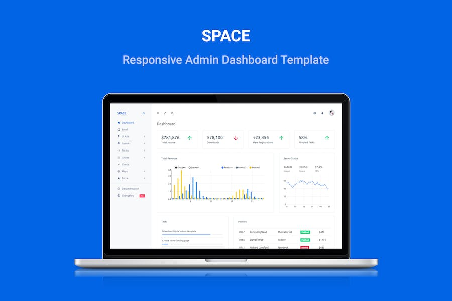Space - Responsive Admin Dashboard Template