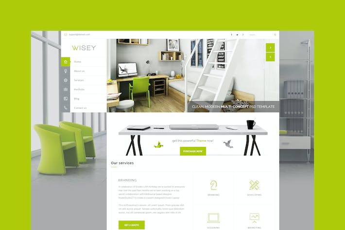 Thumbnail for Wise - Multi-Concept PSD Template