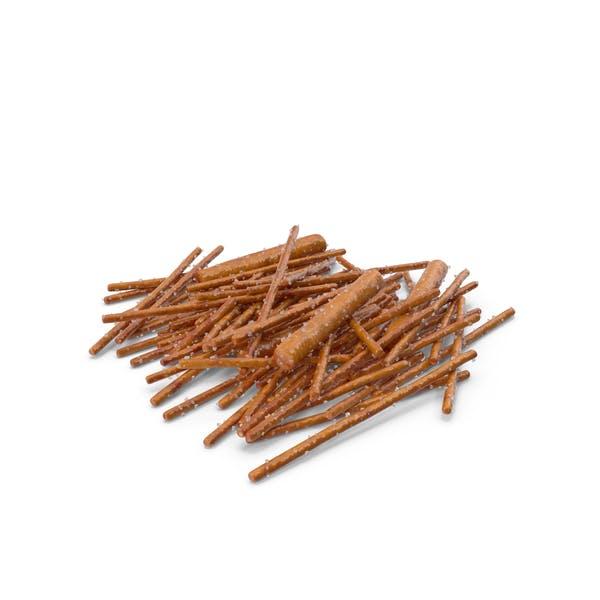 Pile Of Mixed Salty Pretzel Sticks