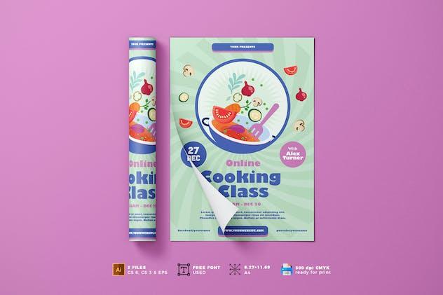 Online Cooking Class Flyer Template Vol. 01