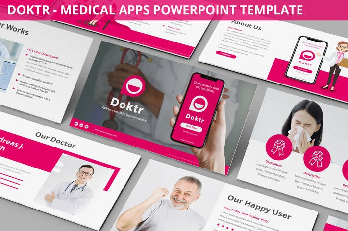 Thumbnail for Doktr - Medical Apps Powerpoint Template