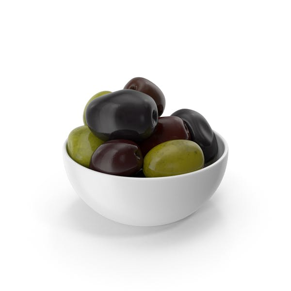Bowl Of Olives Mixed