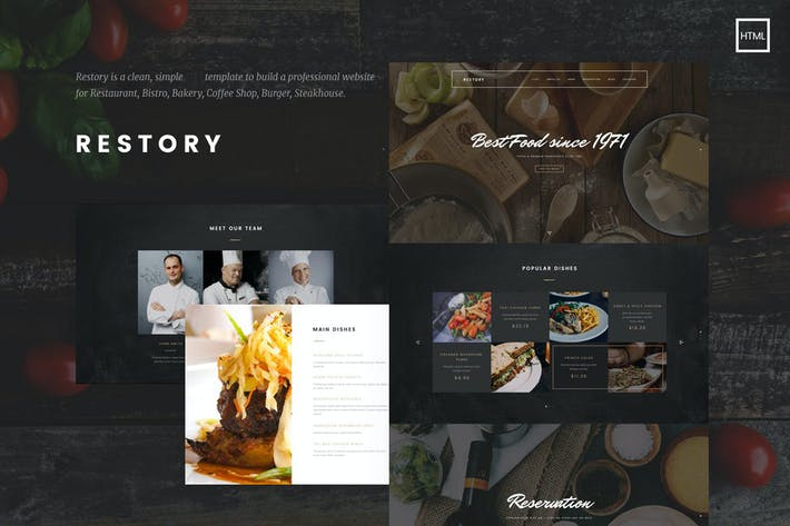 Thumbnail for Restory - Restaurant & Cafe HTML5 Template