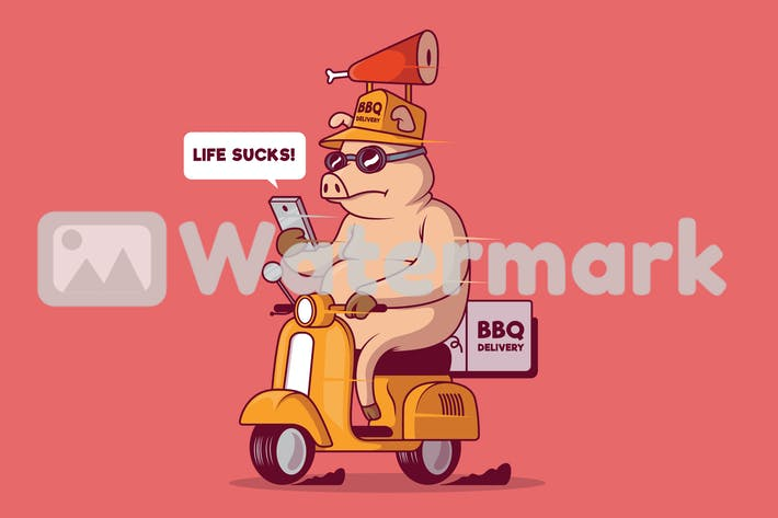 Thumbnail for Pig delivering food