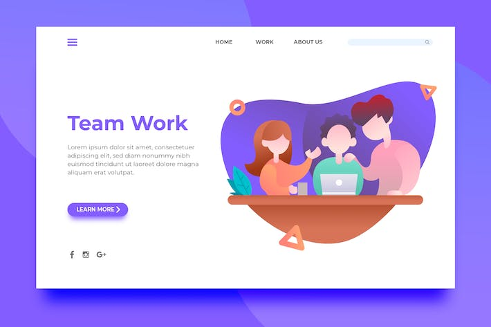 Thumbnail for Team Work - Landing Page