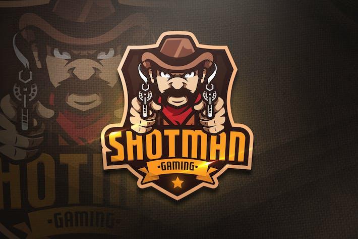Thumbnail for Shotman Gaming - Mascot & Esport Logo