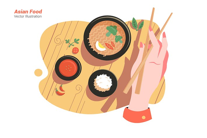 Thumbnail for Asian Food - Vector Illustration