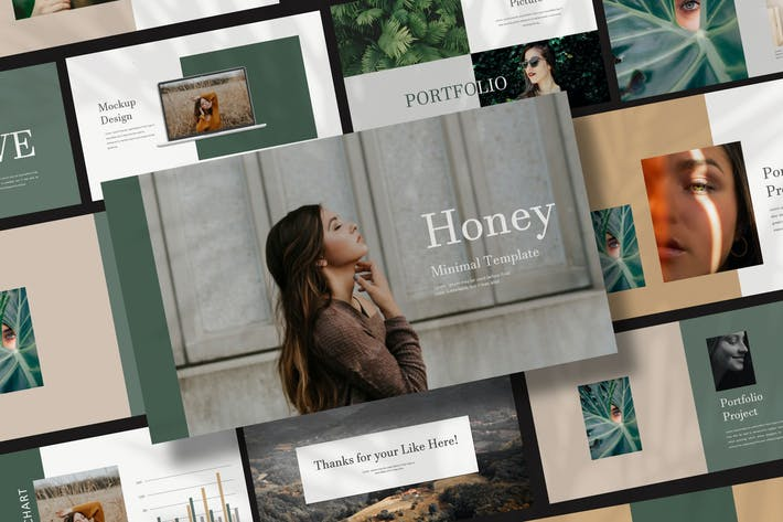 Thumbnail for Honey - Google Slide Portfolio Fashion Creative