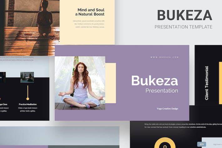 Thumbnail for Bukeza - Yoga & Meditation Google Slides