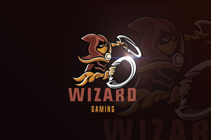 Thumbnail for Wizard Gaming Mascot & eSports Gaming Logo