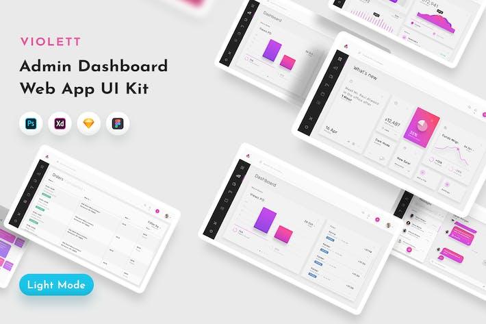 Thumbnail for Violett Dashboard Web UI Kit