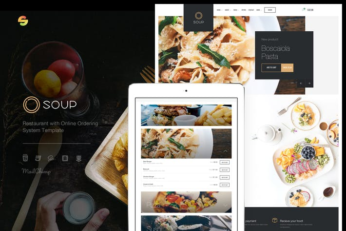 Cover Image For Soup - Restaurant with Online Ordering System