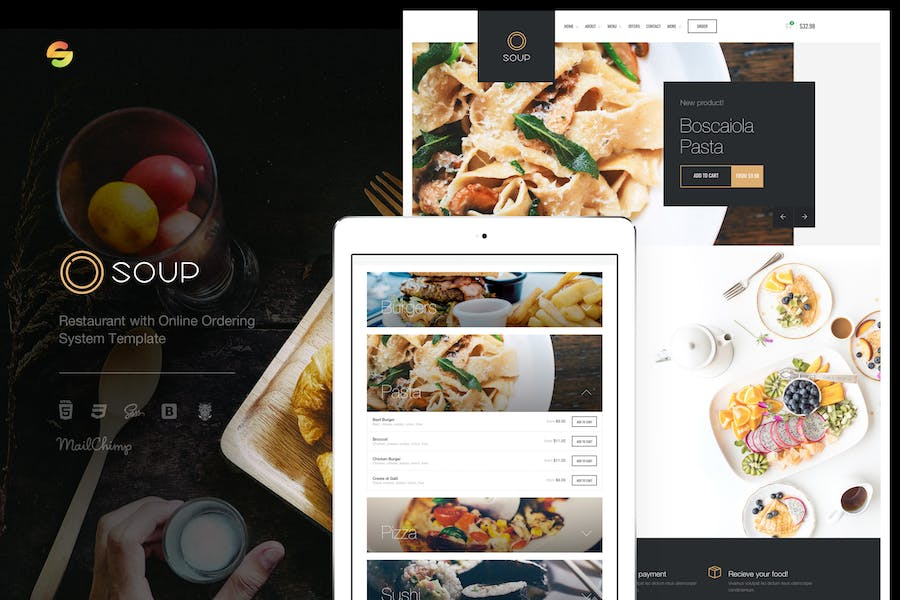 Soup - Restaurant with Online Ordering System