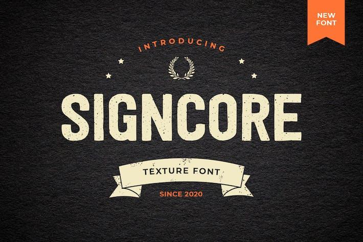Thumbnail for Signcore Sans Con serifa Texture Font - Fuente de textura