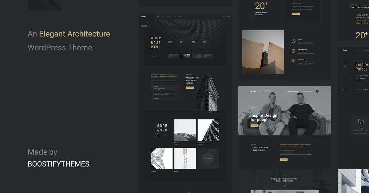 Download Insidect - Architecture & Interior WordPress Theme by BoostifyThemes