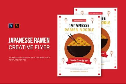 Japanesse Ramen - Flyer