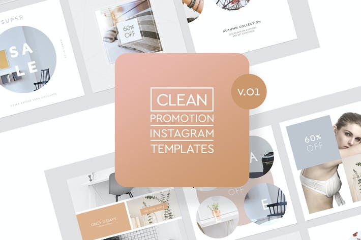 Thumbnail for Instagram Promotion Clean Templates v.01