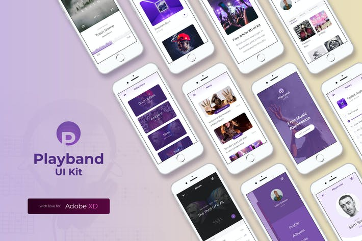 Thumbnail for Playband Music iOS UI Kit