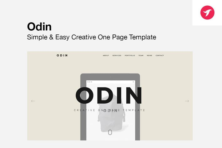 ODIN - Simple & Easy Creative One Page Modèle