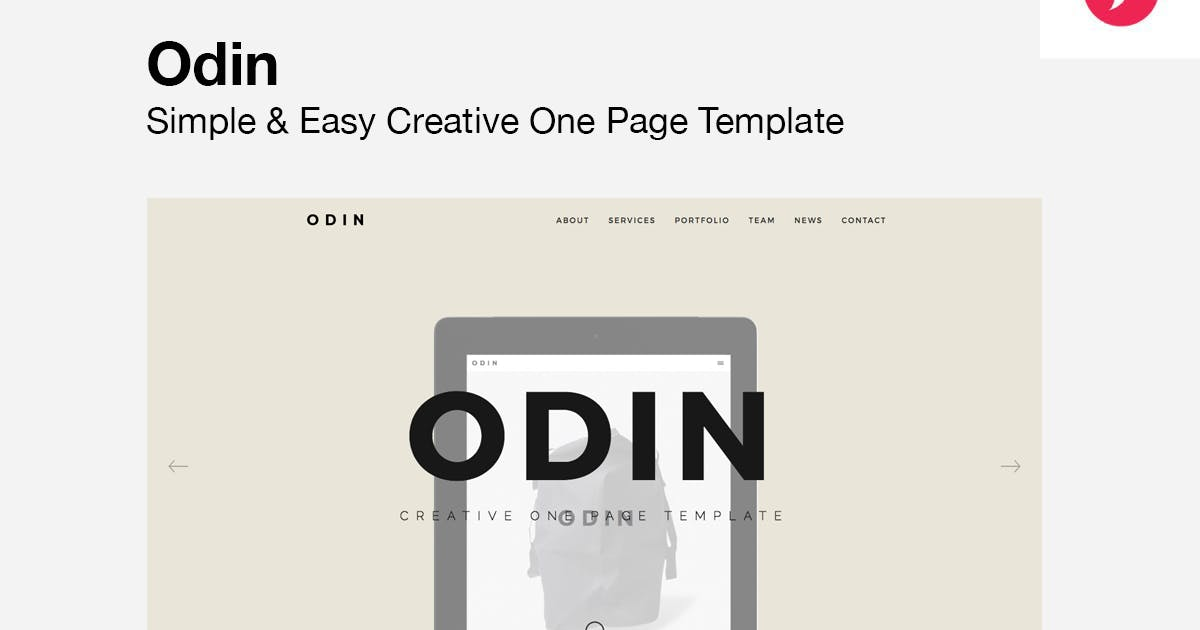 Download ODIN - Simple & Easy Creative One Page Template by designova