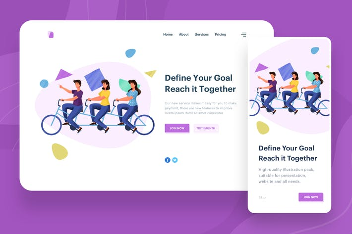 Thumbnail for Define Your Goal Illustration - Website Header