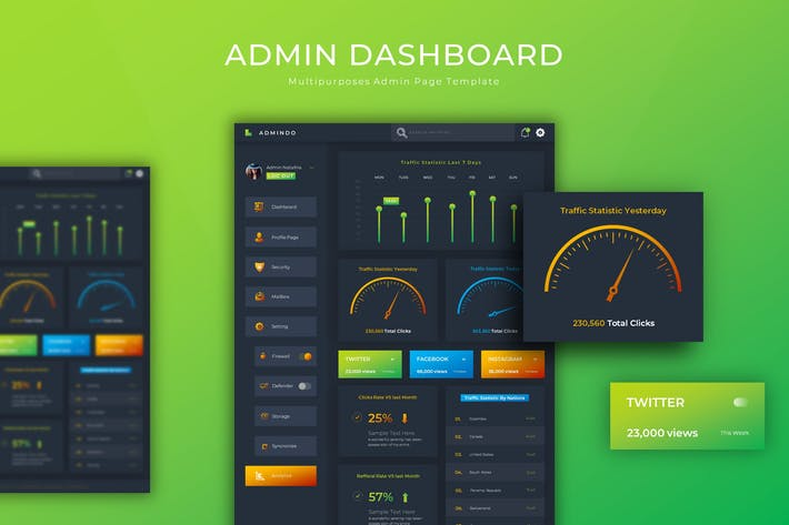 Thumbnail for Admindo Dashboard | Admin Template