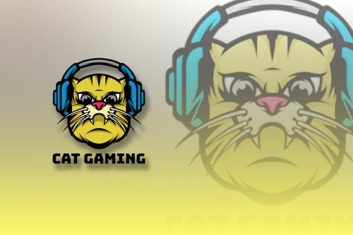 Thumbnail for CAT GAMING MASCOT LOGO E-SPORT